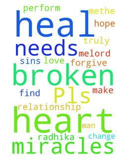 Pls pray for me -   Lord I pray that you can help my broken relationship. I hope that you can heal Radhika heart and find the love that she truly has for me.Lord, I pray that you change me and make methe man that she needs. Only you lord can perform miracles. Only you can heal her broken heart. Lord I ask that you forgive me for all of my sins.   Posted at: https://prayerrequest.com/t/5oF #pray #prayer #request #prayerrequest
