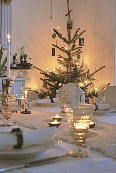 winter...white christmas...candlelight