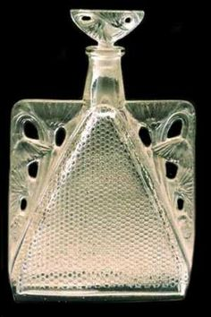 Rene Lalique started designing and creating perfume bottles beginning with the Coty firm at the beginning of the 20th century around 1907. Since that time, all of Rene Lalique's works have been