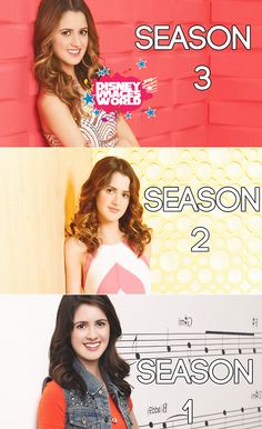 Laura Marano through out the seasons of Austin Ally. I loved the first seasons' outfits but I love the third seasons' hair!!