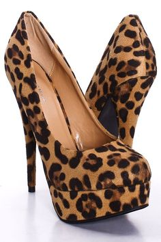 LEOPARD PRINT FAUX SUEDE ROUND TOE PLATFORM PUMP HEELS,Sexy Heels,High heel shoes,Women's sexy heel shoes,Stiletto Heel,new spring heels,fashionable black heels,occasion party heel shoes,designer party heels,prom heel,red heels,gold heels