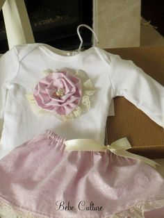 shabby chic baby girls pink sparkle onesie shirt by bebeculture, $48.00