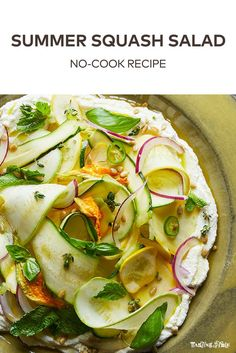 Shaved squash over creamy ricotta makes for the perfect dish