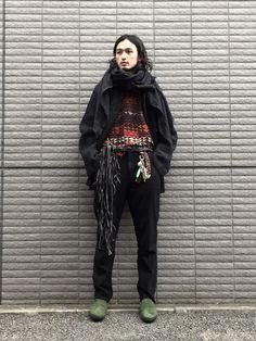 LOOKな感じ w.075 knit jacket:Yohji Yamamoto pour hom