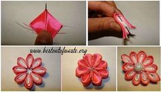 Handmade Silk fabric flower which gives elegant looks to your simple hair pin !! Heavy look to your dress !!