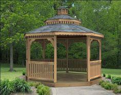 28' Cedar Octagon Double Roof Gazebo by Fifthroom. $33899.00