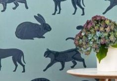 Animal magic' blue wallpaper in 2019 animal room Boys Wallpaper, Wallpaper Samples, Animal Wallpaper, Quirky Wallpaper, Wallpaper Ideas, Blue Wallpapers, Blue Backgrounds, Animal Skeletons, Animal Room