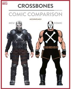 """1,862 Likes, 36 Comments - • Accurate.MCU • mcu fanpage (@accurate.mcu) on Instagram: """"• CROSSBONES - COMIC COMPARISON • Brock Rumlow got introduced in the winter soldier, his story…"""""""