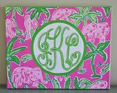 OMG I NEED THIS  Lilly Pulitzer Inspired Painting Elephant