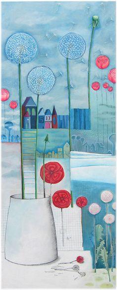 """Pissenlits"" by Sandrine la Sardine (Sandrine Herlin)"
