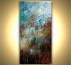 Acrylic Painting 72 x 36 Large Original Abstract by OsnatFineArt