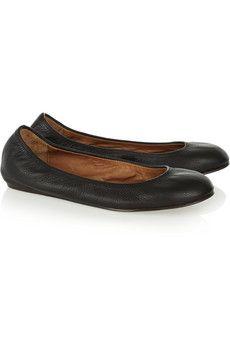 Lanvin Leather ballet flats  $381.25