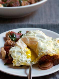Winter's Panzanella with a Fried Egg | Big Girls Small Kitchen