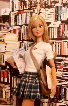 Even Barbie loves the library!