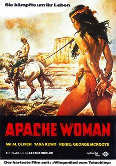 Italian western movie posters | Filmplakat: Apache Woman (1976)