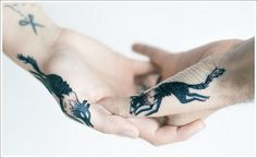 Creativity of Designing the Wolf Tattoo Designs: Cute Black Wolf Tattoo Designs On Finger ~ Tattoo Design Inspiration