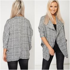 Womens Lagenlook Coatigan Open Front Jacket Coat Ex Branded Check Size UK 10 NEW #Unbranded #Blazer #Business Coatigan, 10 News, New Outfits, Blazer, Clothes For Women, Business, Check, Clothing, Jackets