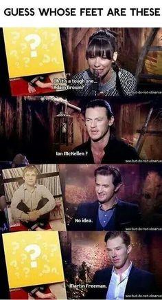 Benedict knows martins feet