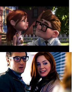 Knew it >:) And it's so perfect, because their personalities are so much alike too: Ellie is this rebellious, adventurous spirit just like Amy, and Carl, like Rory, is happy to be wherever his love is and will wait his entire life for her. ~Frannie