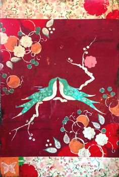 Kathe Fraga Art, inspired by the romance of vintage French wallpapers and Chinoiserie with a