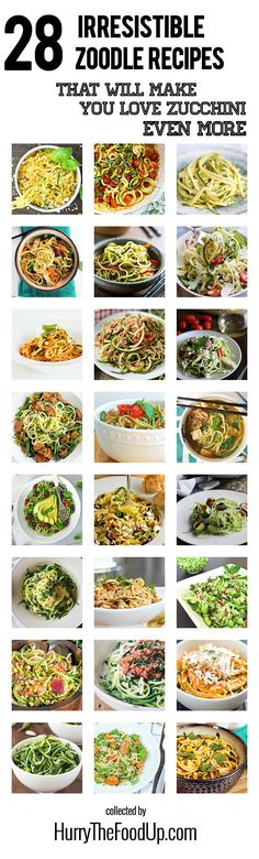 28 Irresistible and Quick Zoodle (Zucchini Pasta) Recipes #zucchini #zoodles | hurrythefoodup.com