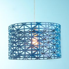 for the hallway in from the garage? can i mount flush with the ceiling?  Young House Love Metal Strap Drum Pendant