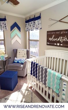 Adventure Nursery | Baby Boy Nursery Ideas | Adventure Theme Kids Room |  Woodland Nursery |