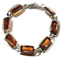 Sterling Silver Honey Amber Bracelet