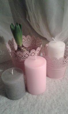 Hyacintti/kynttilät