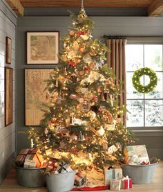 worldly travels tree pottery barn holiday - Pottery Barn Christmas Trees