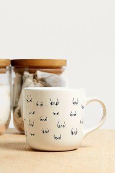 Boob Print Mug | Urban Outfitters