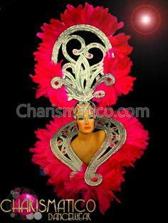 Charismatico Dancewear Store - Charismatico Exotic Gemstone Silver Swirl Fuchsia Feather DivaCabaret Headdress, $180.00 (http://www.charismatico-dancewear.com/products/Charismatico-Exotic-Gemstone-Silver-Swirl-Fuchsia-Feather-DivaCabaret-Headdress.html)