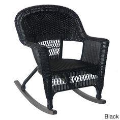 Jeco Wicker Rocker Patio Chairs (Set of 2) (
