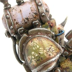 love the rust damage on this model and the drum he's carrying, you just know its full of stagnant putrescence and ready to rupture at any moment.