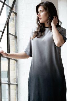 bc813709ff2f Elvi Womens Plus Size Ladies Black   Grey Ombre Shift Dress - UK Sizes 14-