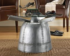 wwii airplane propeller table - http://www.thegreenhead.com/2011/01/world-war-ii-torpedo-bomber-propeller-table.php
