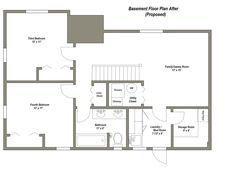 Homes With Basements Floor Plans - Foto Gift and Basement Fsaquatics. 3 Bedroom Floor Plan, Basement Floor Plans, Basement Layout, Bedroom House Plans, Basement Flooring, Bedroom Flooring, Basement Remodeling, Walkout Basement, Basement Ideas