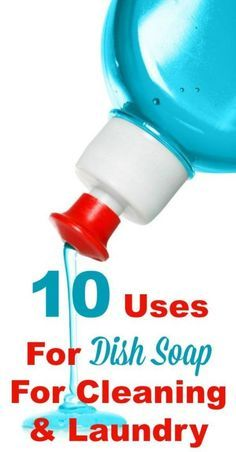 10 uses for dish soap for cleaning and laundry, beside for washing dishes. This stuff is versatile, frugal and works really well! #ad