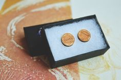 Wooden Flower of life Circle Shaped Stud Earrings by Nightmagnets