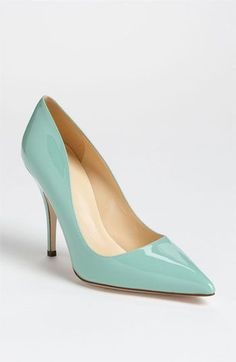 kate spade new york 'licorice too' pump in seafoam patent leather.  I have no idea what I'd wear these with, but they are really pretty.  It puts me in the mood for an early spring.