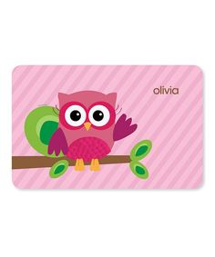 Take a look at this Pink Owl Be Yours Personalized Place Mat by Spark & Spark on #zulily today!