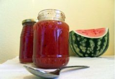 Görögdinnye-dzsem recept Hot Sauce Bottles, Preserves, Pickles, Salsa, Healthy Living, Cooking Recipes, Cheesecake, Homemade, Kitchen