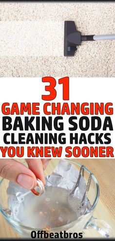30 Genius Baking Soda Cleaning Hacks for Your Home Baking Soda is an amazing cleaner and an common household ingredient that makes house cleaning easy. Baking soda hacks are not limited to cleaning tips,. Baking Soda Cleaning, Baking Soda Uses, Household Cleaning Tips, Deep Cleaning Tips, House Cleaning Tips, Green Cleaning, Diy Cleaning Products, Cleaning Hacks, Household Chores