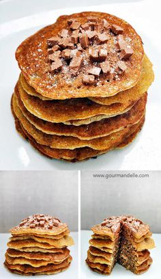 These are the best #glutenfree #vegan pancakes ever! Actually, they're the best fluffy pancakes, period. Being vegan, gluten-free and sugar-free is definitely a plus! | gourmandelle.com