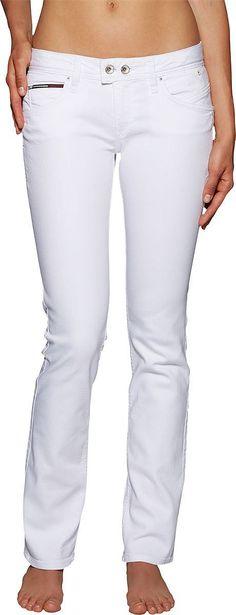 Diese stylische Hose Vicky Cawst aus dem Hause Tommy Hilfiger für Frauen passt zur Freizeit und zur Abendgarderobe 100% Baumwolle...