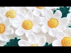 Crochet Granny, Irish Crochet, Diy Crochet, Crochet Stitches, Handmade Flowers, Diy Flowers, Crochet Flowers, Crochet Cardigan Pattern, Crochet Patterns