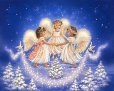 DIY Diamond Painting Happy Angels Cross Stitch Kit for Kids Bedroom Wall Deco Angel Images, Angel Pictures, Christmas Angels, Christmas Art, Vintage Christmas, Christmas Gifts, Murals Your Way, I Believe In Angels, 5d Diamond Painting