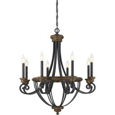 Savoy House 1-2051-8-68 Wickham 8 Light Chandelier in Whiskey Wood