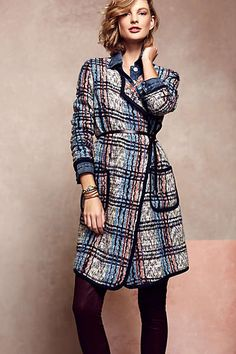 Elsie Plaid Coat