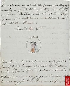 Jane Austen's The History of England (written at age 15). Illustrations by her sister Cassandra.